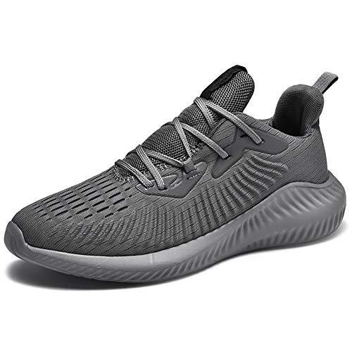 AZOOKEN Herren Damen Sneaker Laufschuhe Sportschuhe Straßenlaufschuhe leicht Walkingschuhe Running Turnschuhe Shoes(1983-GY39)