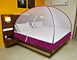 #10: OnlineTree Polyester Foldable Double Bed Mosquito Net (Purple, 6x6)