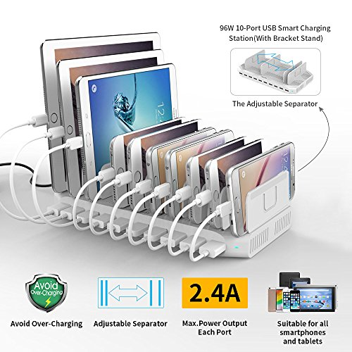 powerport-96w-24a-max-alxum-10-port-usb-charger-charging-station-for-multiple-device-with-smartic-te