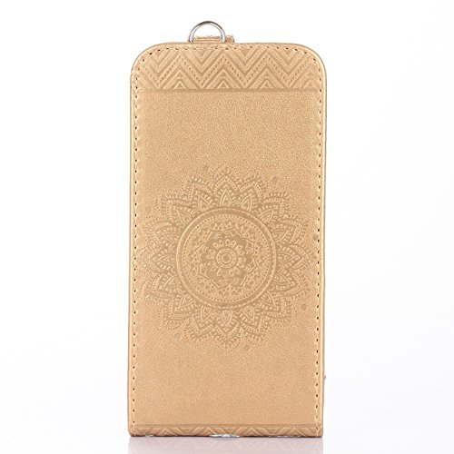 Custodia iPhone 7/8,Ukayfe Flip Cover Case Custodia per iPhone 7/8 in pelle PU,iPhone 7/8 Lussuosa Astuccio Custodia Cover [PU Leather] [Shock-Absorption] Protettiva Portafoglio Cover Custodia Giuntur Doro
