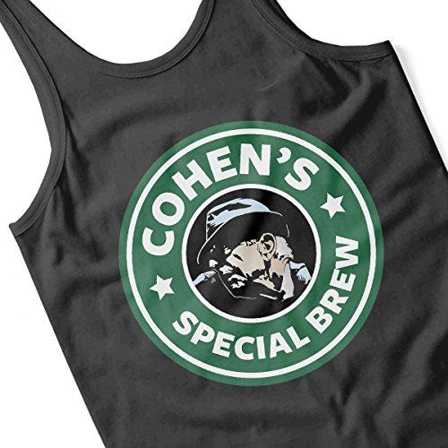 Leonard Cohens Special Brew Starbucks Logo Women's Vest Black