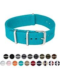 Archer Watch Straps - Las correas de Reloj de Nylon de Calidad Premium (Azul Claro, 20mm)