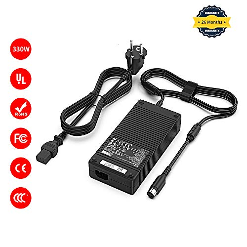 Delippo 330W 19.5V 16.9A AC Adapter Power Supply for Alienware X711 MSI GT83VR MSI Desktop Trident 3 Series ADP-330AB D Clevo P370SM-A P775DM3G GT83VR-6RF-Titan-SLI(4 -