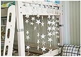Cosanter Sternenvorhang 4m weihnachtlicher Weihnachtsdekoration Wandschmuck Tür- und Fensterdekoration Vorhang Deckenverzierung Deko Pappe Stern