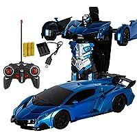 Yeldou Transform Car Robot, Transformation Car Toy, Remote Control Car One Button Deformation into Robot, Deformation Toys Transform Car Robot for Kids