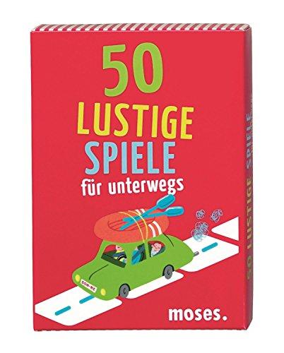 Moses 50 lustige Spiele für unterwegs, Kinderbeschäftigung, Kartenset (Unterwegs-spiele Für Kinder)