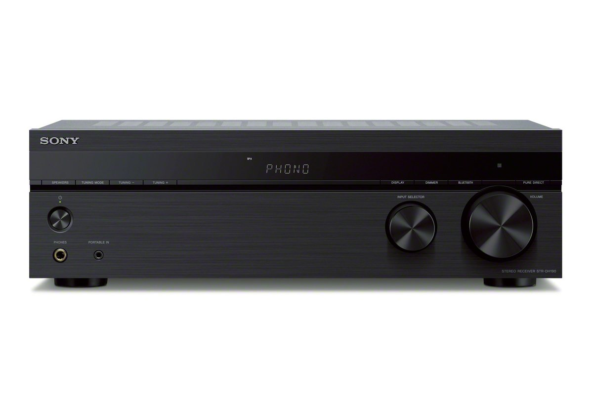 Sony STRDH190.CEK 2 Channel Amplifier with Phone Input and Bluetooth – Black