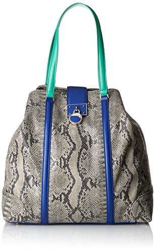 Cavalli Large Shopping Bag Luxe Cruise 003, shoppers Multicolore - Mehrfarbig (Royal Blue/Green F64)