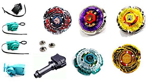 ega Set Metal Fusion 4D KAMFKREISEL SET für beyblades von Rapidity® B-1 (3 Beyblade Set)