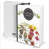 """Rezeptbuch """"Gewürze Kräuter"""" schwarz weiß (Hardcover A4, Blankoseiten): Für die Lieblingsrezepte leidenschaftlicher Hobby- und Profiköche -"""