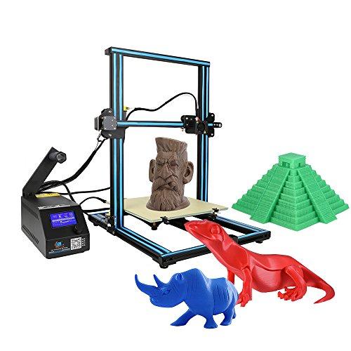 Creality CR-10 Imprimante 3D en aluminium Taille d'impression 300 * 300 * 400mm avec 200g PLA Support PLA / ABS / TPU / cuivre / bois / fibre de carbone filament Orange