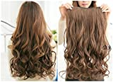 """X&Y ANGEL- Hot Fashion 22"""" Curly Clip in Hair Extensions Hairpiece 1 Pcs Light Brown"""
