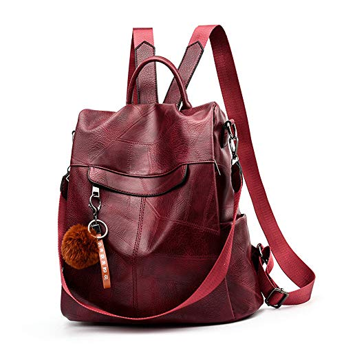 TnXan Backpack Women Shoulder School Bags for Teenage Girls Vintage Leather Anti Theft Backpack Mochila Mujer Back Pack Lady Casual Travel Cycling Hydration Bags