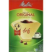 Melitta Filtertüten 1 x 6/40 naturbraun, 4er Pack (4 x 40 Stück)