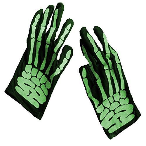 Badry Fashion Unisex Handschuhe Halloween Skeleton Handschuhe Holloween Cosplay Requisiten Schädel Handschuh Long Hand Bones Sleevesgreen One Size