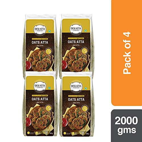 Desi Atta Company Whole Oats Atta 500g (Pack of 4)