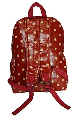 GFM Fastglas finition cirée Grand sac à dos pour l'école, l'université, la salle de sport, le sport, etc. Multicolore - Medium Size - Hearts & Roses- Blue (HTSROSNL)