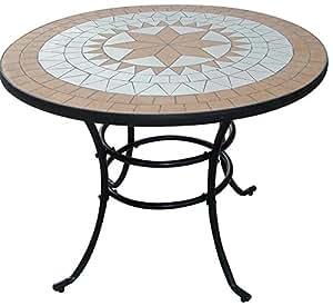 Tavoli liberty mosaico tondo cm100 giardino e for Arredamento per giardino outlet