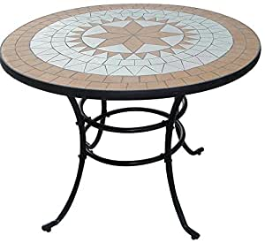 Liberty tavolo mosaico in acciaio arredo giardino for Arredamento amazon