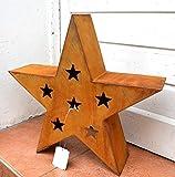Stern Rost aus Metall Edelrost Weihnachtsdeko Weihnachten Winterdeko Garten-Deko xmas Deko Skulptur Höhe ca. 37cm