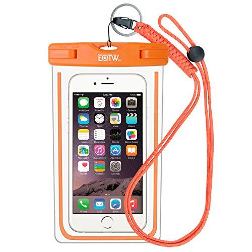 EOTW IPX8 wasserdichte Tasche für Handy bis zu 6,5 Zoll, Handy Hülle Wasserdicht Gut Urlaub Zubehör für Meer, Pool, Surfen, Absolut wasserdicht Für Taucher & Schnorchler, Orange