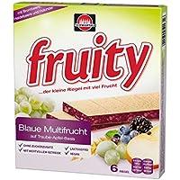 Schwartau fruity Blaue Multifrucht, 6 x 24 g Riegel, 144 g Schachtel