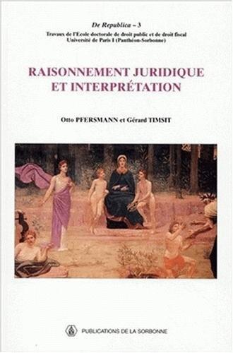 Raisonnement juridique et interprétation PDF Books