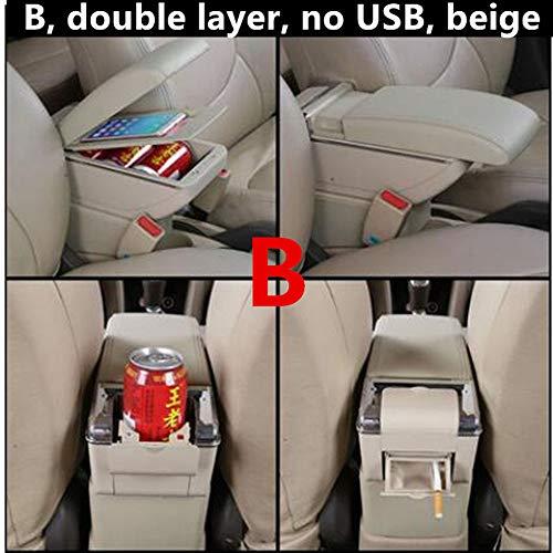 WANGLEISCC Armlehnenbox Für Opel, für Opel Astra Corsa Mokka Tigra Zafira Tourer,Mittelkonsole Drehbare Armlehne Auto Armlehne Aufbewahrungsbox