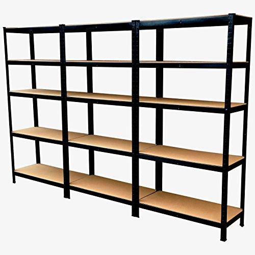 panana-3-x-18m-warehouse-5-tier-racking-shelf-heavy-duty-steel-garage-shelving-unit-180x90x40cm-blac