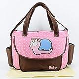 Mummy Bag multifunzione di grande capienza della spalla del doppio di viaggio zaino del bambino borsa della bottiglia del sacchetto di moda isolanti Borse (rosa)