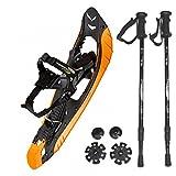 Kombi-Paket: Schneeschuhe 999 Rocker PL MS von Salewa + Leichter, 3-teiliger Teleskopstock Hiker 5000