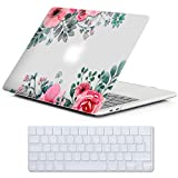 Cover MacBook New Pro 13 Retina Costodia , iCasso Flower Ultra Sottile Plastica Rigida Shell Snap On Duro Case per MacBook New Pro 13 pollici Retina (Modelli: A1706 / A1708)