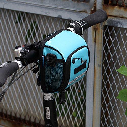 LWJgsa Die Vorderseite Der Fahrrad Lenker Tasche Kleine Falten Tasche Ersten Chartered Auto Turquoise blue