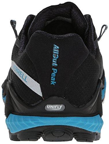 Merrell All Out Peak, Scarpe da Trail Running Donna Nero (BLACK/ALGIERS BLUE)
