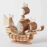 Barca a vela 3D in legno.