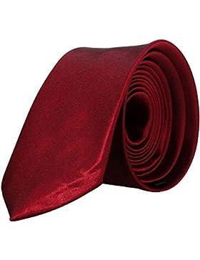 Schmale Herren / Damen Krawatte / Eintecktuch 5cm - von Hand gefertigt | Schwarz | Weiß | rot | Grün