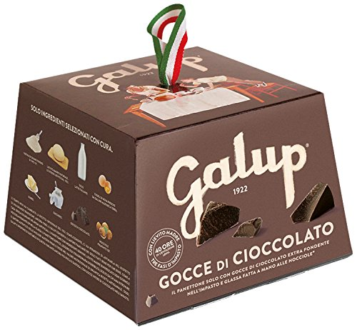 Galup nv22 panettone gocce cioccolato, 100 gr - pacco da 6