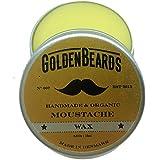 Organico Moustache Wax–15ml 100% naturale * Golden Beards * | jojoba & argan & apricot oil, idrata la tua barba e pelle, Get Your barba su punto, prodotto perfetto Grooming, uomo barba Grooming 100% vegan & organici oli per vera barbe–stop prurito barba–il miglior barba di crescita–il miglior prodotto per barba e la barba perfetta confezione regalo o barba kit se hai bisogno di un uomo barba balsamo per barba Care this is the best Gift set. 100% Garantito.