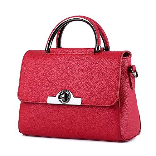 QPALZM Frauen PU-Leder Schultertasche Schicke Tasche Damen Handtaschen 38 8 Unzen (OZ) A6