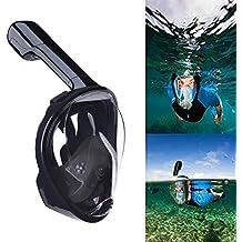 Máscara de Buceo,QcoQce Snorkel Máscara con 180 Grados de Vision, Snorkel Máscara Plegable