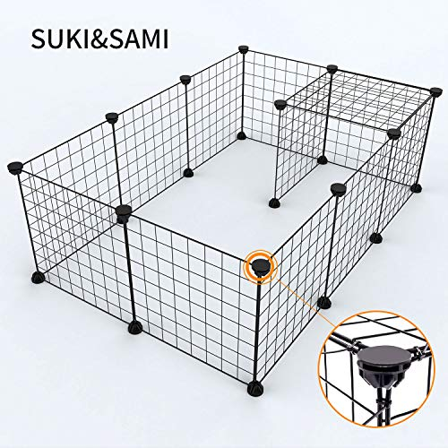 Pet Laufgitter Kleintierkisten SUKI&SAMI Portable Tierkäfig Indoor, Übung Pen Yard Fence für...