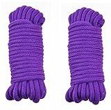 BONDAGERIE Due corde in cotone Viola, in Cotone morbido