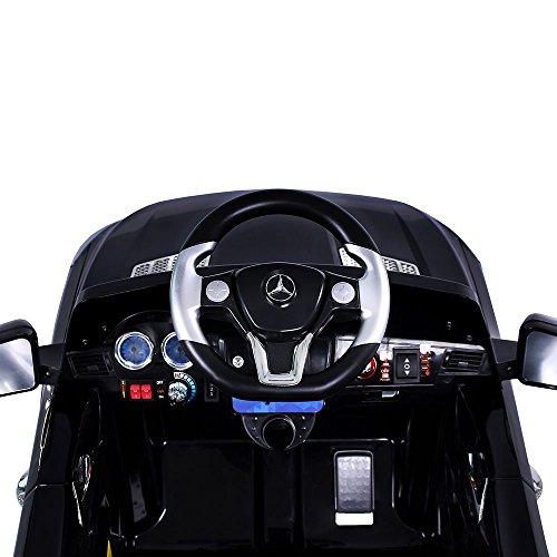 RC Auto kaufen Kinderauto Bild 5: Mercedes-Benz ML Kinder Auto Elektroauto Kinderauto Elektrofahrzeug Kinderfahrzeug mit 2 Motoren MP3 Fernbedienung. Farbe: Schwarz*