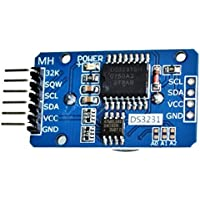 Hosaire Módulo DS3231 AT24C32 reloj en tiempo real RTC alta precisión de reloj con batería suministrada módulo de memoria del módulo CII para Arduino Frambuesa Pi microcontrolador