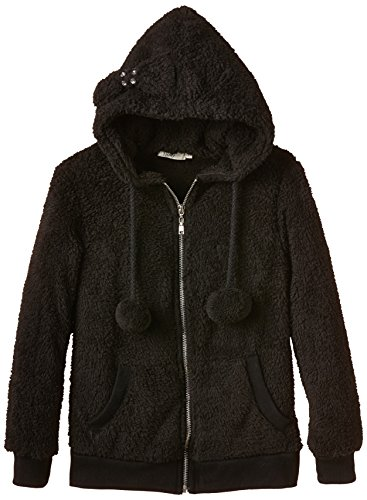 Molly Bracken - STAR Veste capuche zippée fourrure et, Giacca per bambine e ragazze, nero (schwarz/black), 12-18 mesi (74 cm)