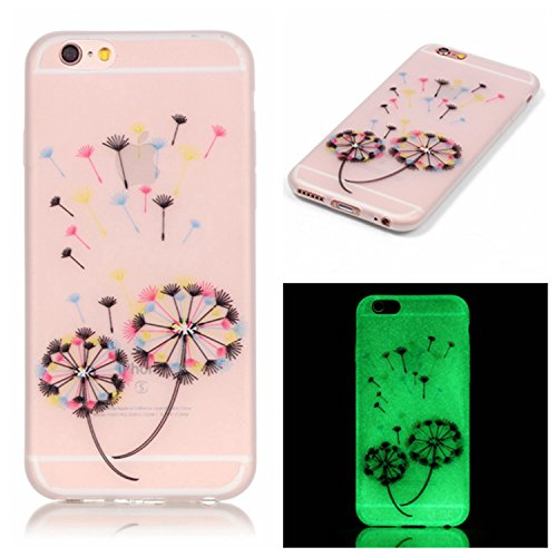 Pour iPhone SE/5/5S Coque,Coffeetreehouse [Noctilucent] Coque Etui Silicone Transparente Gel TPU Bumper Anti Poussiere Resistance Anti-rayures Case Cover Couverture Pour iPhone SE/5/5S - I love you pissenlits Colorful