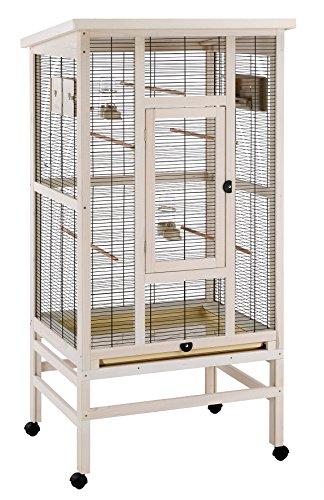 Ferplast wilma voliera in legno beige per uccelli 83x 67x 158,5cm