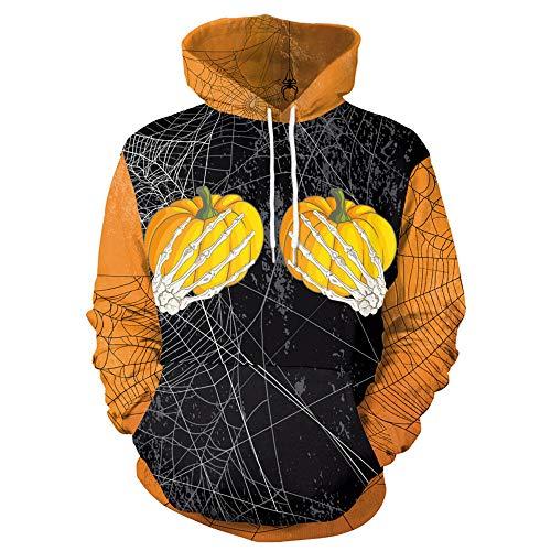 (Damen Sweatshirt, LANSKIRT Halloween Tunnelzug Langarm Sweatshirt für Damen Kürbis Party Bluse Hoodie Langarm Pullover)