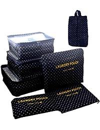 Marosoniy® Organizador de Equipaje, 7 Sets Organizador de equipaje Packing Cube Travel Organizer Bolsa de compresión