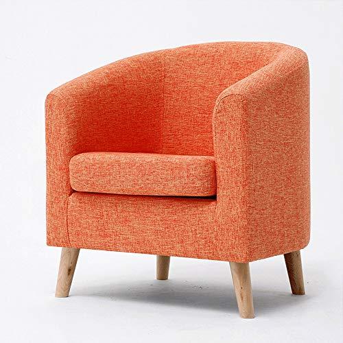 Teen Schreibtisch Orange (Nordic Einzelsofastuhl Einfarbig Gedruckt Sofa Lässig Waschbar Sofa Abdeckung for Sofa, Cafe Bar Wohnzimmer Sessel (Color : Orange))